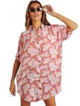 Camisa de playa con estampado de verano