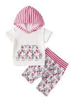 Kinder Mädchen Sommer Print Hoody Shirt und Shorts