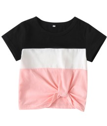 Kids Boy Sommer Kontrast Shirt