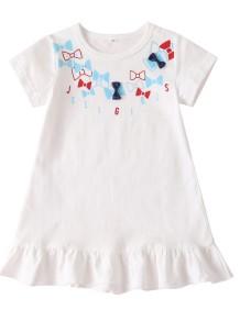 Платье для девочки Summer Girl с белым принтом