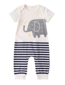 Baby Boy Print Sommer Strampler Overall
