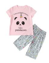 Kids Girl Summer Print Zweiteiliger Pyjama