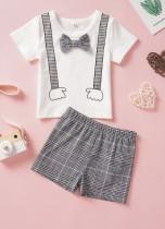 Camicia e pantaloncini a quadri estivi per bambini