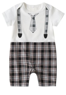Baby Boy Print Summer Rompers Jumpsuit