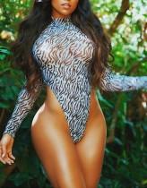 Sexy driedelige cover-up bikini