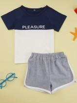 Kids Boy Sommer Kontrast Short Set