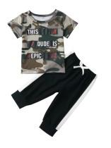 Kids Boy Summer Camou Shirt und Kontrasthose