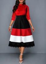 Контрастное платье-футляр для матери невесты