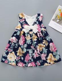 Летнее платье для девочек с цветочным принтом Kids Girl