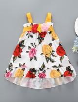 Kinder Mädchen Sommer A-Linie Blumenkleid