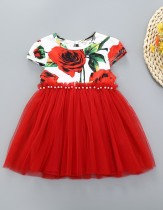 Kinder Mädchen Sommer Blumen Party Kleid