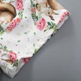 Kids Girl Summer Straps Blumenshorts Set