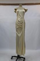 Sommer Gold Metallic Abendkleid