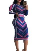 Abrigo largo africano colorido ondulado estampado