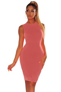 Sexy Plain Color Sleeveless Bodycon Dress