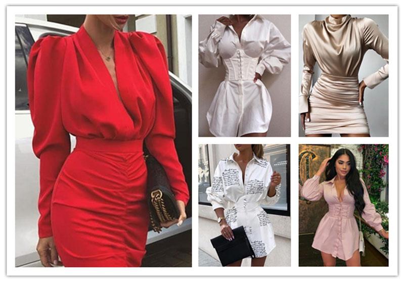 Kleid Umrisse / 2020 Sommer Modetrend
