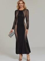 Sexy Nighty Black Long Kleid
