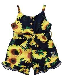 Kinder Mädchen Sommer Floral Straps Strampler
