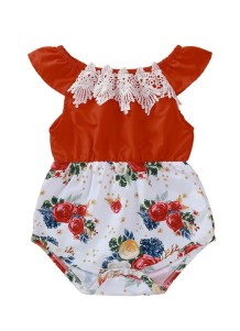 Baby Girl Summer Floral Rompers