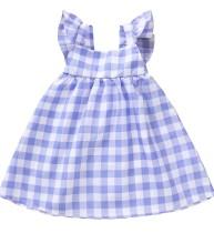 Kinder Mädchen Sommer Plaid A-Linie Kleid