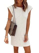 Vestido informal de verano con cuello redondo