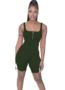 Sports Sexy Sleeveless Zipper Bodycon Rompers