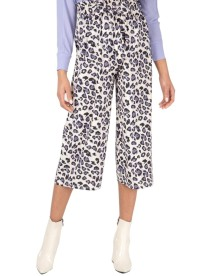 Summer Leopard Print Under-Knee Loose Trousers