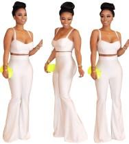 Sexy elegante Träger Crop Top und Hosen Set