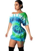 Vestido camisero con cordones de colores de verano