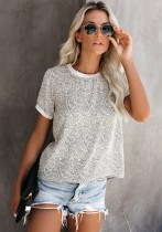 Sommer Print O-Neck Basic Shirt