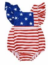Bikini de una pieza con estampado de verano para niña