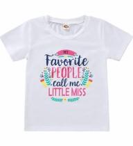 Camisa blanca estampada verano niña niños