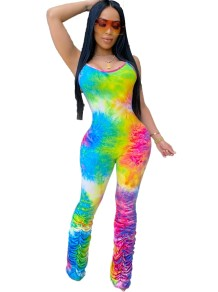 Sexy Colorful Straps Bodycon Jumpsuit