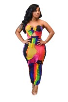 Sexy Sweetheart Colorful Long Party Dress
