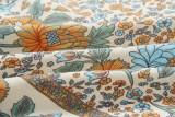 Top corto a maniche corte con stampa floreale estiva