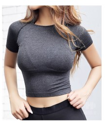 Kısa Kollu Fitness Yoga Crop Top
