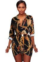 Afrikanische Retro Bluse Lange Bluse Mit Ärmeln