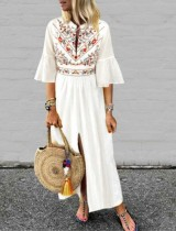 Vestido largo de verano Boho Slit