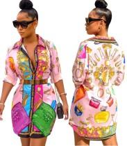 Drucken Sie afrikanisches langes Blusenkleid
