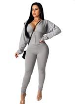 Conjunto de pantalón y top de corsé de dos piezas de color sólido sexy