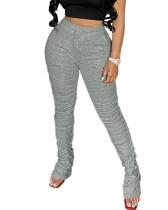 Pantalones apilados de cintura alta sexy