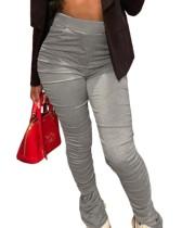 Pantalones de hendidura apilados de cintura alta sexy