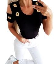 Chemise basique d'été à découpes toriques