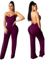 Open Back Sexy Straps Party Jumpsuit