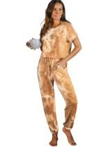 Mono de una pieza de verano Tie Dye Homewear