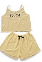 Set di pantaloncini da due pezzi per bambina estate