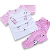 Conjunto de pijama de verano para niña, dos piezas, pantalón