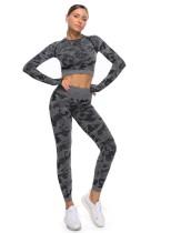 Active Yoga Camou Shirt und Legging Set