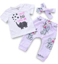 Set di pantaloni per bambini 3PC Summer Girl