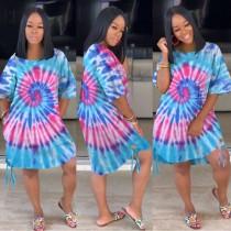 Summer Tie Dye Afrikanisches Hemdkleid